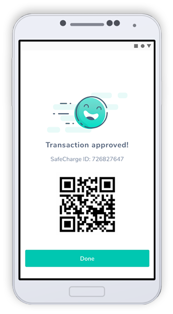 Approved transaction through a mobile application
