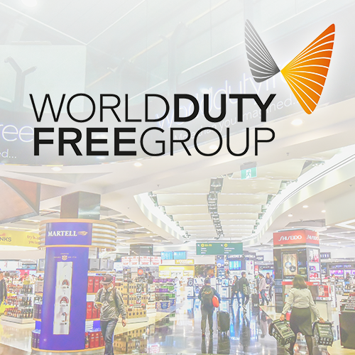 World duty fee group logo at Heathrow airport